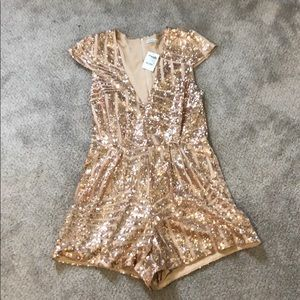 Sparkly romper- Charolette Russe